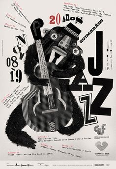 GUIMARÃES JAZZ 2011 POSTERS by Atelier Martinoña , via Behance