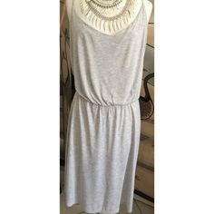 H & M light cotton dress Gray cotton dress with spaghetti straps & elasticized waistband.  Lightweight & comfortable. H & M Dresses Mini