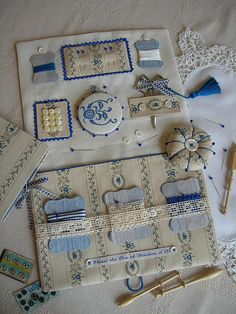 Beautiful Pin Keep and Sewing Kit.