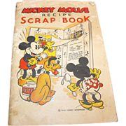 Mickey Mouse Recipe Scrap Book by Walt Disney