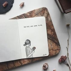 Likes, 30 Comments - Ana Ye Easy Love Drawings, Mini Drawings, Dark Art Drawings, Pencil Art Drawings, Art Sketches, Bts Drawings, Drawing Journal, Art Sketchbook, Sketching