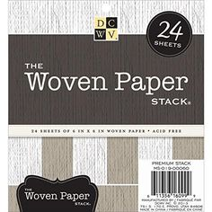 Die Cuts With a View 6 x 6 Burlap Paper Mat Stack Sheet