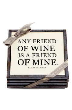 Adoring these antique copper framed coasters printed with a witty quote that's sure to delight any wine connoisseur. #winetime #winequotes