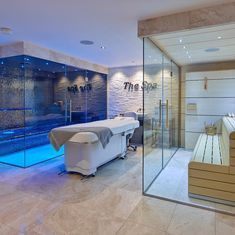 Who fancies spending this Easter Weekend relaxing in the spa? 🙋♀️🙋♂️ A recent Sauna & Wet Room Frameless Glass installation. If you'd like more information about our bespoke glass solutions simply leave a comment or send us a message 💬 Ayurveda Vata, Sauna Steam Room, Glass Installation, Layout, Wet Rooms, Glass Door, Bespoke, This Is Us, Spa