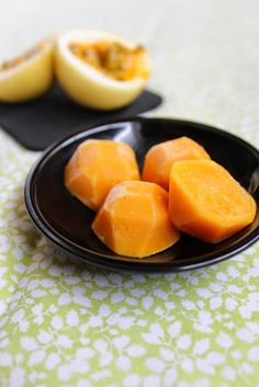Spoonful of Delight: Passion Fruit ice cubes