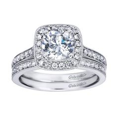 fashion cushion engagement rings