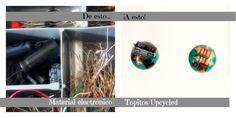 Mr. Bunny: DIY: Topitos Upcycled de material electrónico recuperado