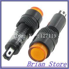 1pcs,RED JEWEL Indicator PILOT LIGHT Signal Lamp,12V DC ay