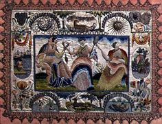 The Three Fates, English, mid 17th century (embroidery) Location Private Collection Medium embroidery Date 17th (C17th)