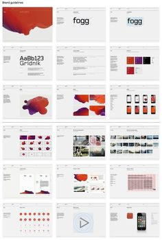 50 meticulous style guides every startup should see before launching – Learn - Branding / logos - This image depicts the shear amount of work that must be put into creating an identity. To successf - Layout Design, Web Design, Logo Design, Identity Design, Brochure Design, Identity Branding, Startup Branding, Slide Design, Corporate Branding