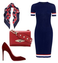"""chicss"" by mchlap on Polyvore featuring Gucci, Karen Walker, Christian Louboutin and RED Valentino"