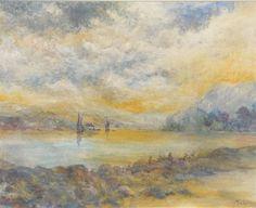 Artwork by John MacWhirter, On the Dee, Made of watercolour
