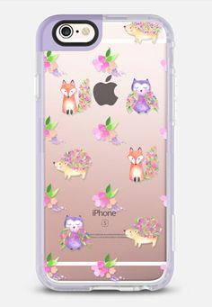 Casetify iPhone 7 Case and Other iPhone Covers - Watercolor Floral Woodland Animals iPhone Case by Ruby Ridge Studios Pretty Iphone Cases, Cute Phone Cases, Iphone 7 Cases, New Iphone, Phone Accesories, Tech Accessories, Apple Products, Woodland Animals, Floral Watercolor