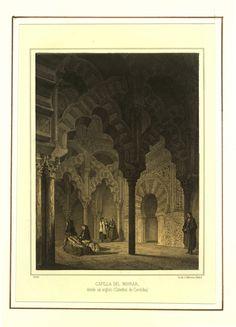 Capilla del Mihrab desde un ángulo (1855)