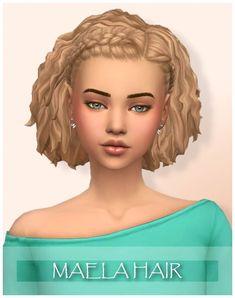 Sims 4 CC - Maela hair by WonderCarlotta - Wondercarlotta - Sims 4 Maela Hair BGC All 18 EA swatches Tested in game Teen to elder Hat compatible Custom thumbnail Feel free to recolor but do not include the mesh. Sims 4 Cc Packs, Sims 4 Mm Cc, Sims 3, Sims 4 Game, Maxis, Medium Hair Styles, Short Hair Styles, Hair Medium, Tumblr Sims 4