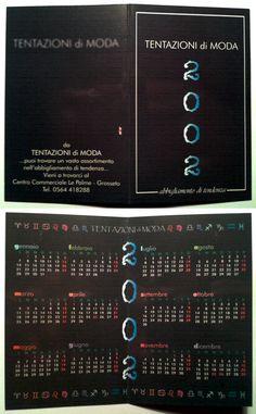 Calendarietto pubblicitario 2002 - Tentazioni di Moda