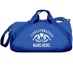 I Love Gymnastics Custom Name Gift Liberty Barrel Duffel Bag -- Check out the image by visiting the link. Note:It is Affiliate Link to Amazon.