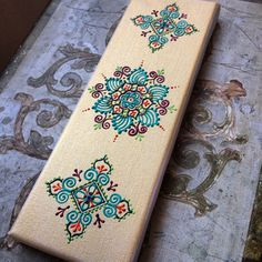 Henna style mandalas on mini canvas by Henna on Hudson