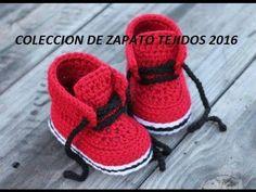 Zapatitos nike a crochet para bebe muy fáciles - YouTube