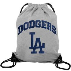 MLB Los Angeles Dodgers Practice Backsack, Small, Grey by Concept 1. $9.20. Reinforced Strap corner construction. Extra strength cording. Distress screenprinted artwork.. Cotton t-shirt body mnaterial in heather grey.. This backsack is a lightweight bag, convenient to take along for different activities and carry your gear while sporting your favorite team.. Save 49%!