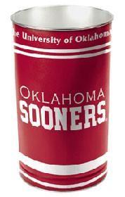 "Oklahoma Sooners 15"" Waste Basket"