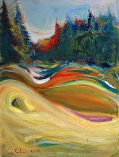 """Saatchi Online Artist: Serhiy Savchenko; Acrylic, 2012, Painting """"blue animals"""""""
