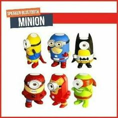 New  NEW Cosplay bluetooth speaker 14cm Minions Cosplay speaker The toys spealer as Avengers Super Hero Spiderman Superman Batman Captain America Ironman Thor Action bluetooth speaker  Cartoon Portable Minions Speaker TF Card USB Speakers FM Radio MP3 MP4 Player tablet PC Louderspeaker specail desgin for your cosplay testhigh quanlity with good price. Pls remark the color you need in the order otherwise we will send you at randonthank you Specifcations: 1. Bluetooth Connection; 2. Built-in…