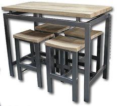 1000 id es sur le th me table haute sur pinterest lampes for Table haute de cuisine et tabouret