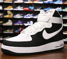 more photos 2a06f 3c294 Nike Air Force 1 High 07-Black-White Nike Water Shoes, Running Shoes