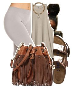 """""""8/13/16"""" by lookatimani ❤ liked on Polyvore featuring Birkenstock, Diane Von Furstenberg and Juicy Couture"""