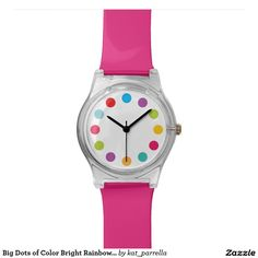 Big Dots of Colour Bright Rainbow Watch