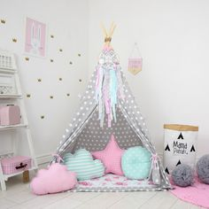 Dotted Teepee Play Tent Dotted Tent Polka Dot Teepee Polka
