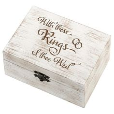 Rustic White Wedding Ring and Vow Box - I Thee Wed : Target