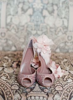 sparkly pink shoes!