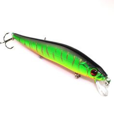 2015 New 14cm 23g Fishing Lure Minnow hard bait Artifical with 3 fishing hooks fishing tackle Lure 3D eyes peche pesca * Be sure to check out this awesome product.