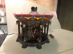 Halloween DEPT 56 GHOSTLY CAROUSEL Witches Skeletons yyuupp