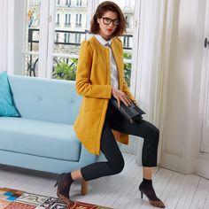 Sobretudo vintage em malha borboto Mademoiselle R | La Redoute