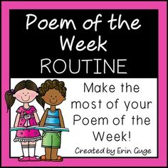 In this easy-to-use one-page reference, specific concepts and prompts are listed under each day of the week to ensure your time spent on your Poem of the Week is maximized and efficient, as you hit upon all the beginning reading concepts! Each day of the week contains a different focus (print concepts, phonemic awareness and phonics, word focus, comprehension, and fluency).