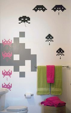 space invaders - in the toilet