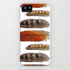 Raptor Feathers iPhone & iPod Case by Jody Edwards Art - $35.00