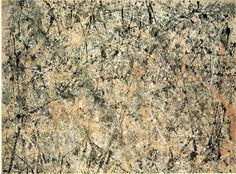 Influencial American painter, Jackson Pollock (1912-1956) painted this ground breaking painting 'Lavender Mist' (1950).  Jackson was a major figure in the abstract expressionist movement. He was well known for his uniquely defined style of drip painting.  'Lavendar Mist' was Pollock's most famous painting.  He died at the age of 44 in an alcohol-related car accident.