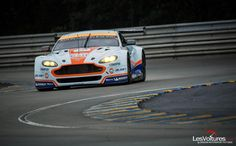 The Aston in Gulf livery during the 24 Hours of Le Mans 2015