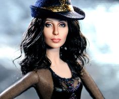 cher burlesque repaint by ncruzdolls, via Flickr .......This Cher doll is amazing!