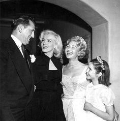 Marilyn Monroe at Sheila Graham's wedding,1953.