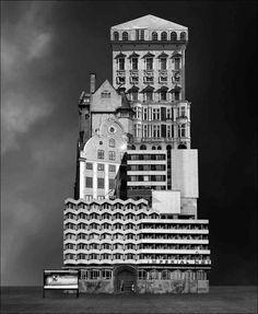 Архитектурные сценарии художника Beomsik бросают вызов гравитации и реальности