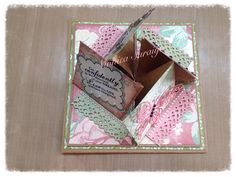 Popped up quad easel card and all 4 sides and inside