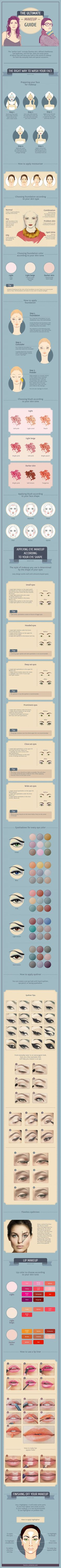 Step-by-step instructions to help you attain an absolutely flawless look. Makeup infograph eye liner makeup