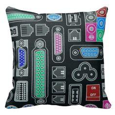 Computer Geek Input Pattern Throw Pillow