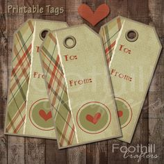 INSTANT DOWNLOAD  12 Valentine's Day Heart by FoothillCrafters, $3.49  #printabletags #heart_tags #valentinestags #gift_tags #foothillcrafters #etsyshop #productlabels #luggagetags #diyhangtags #hearts #valentinesday #valentinescrafts #plaid #gifts
