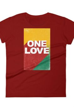 """BE #ONELOVE Women's short sleeve t-shirt Your typical 100% cotton t-shirt (except for heather colors, which contain 10% polyester). Pre-shrunk to make sure your size is maintained throughout several washes, and a classic fit. • 100% jersey knit • Pre-shrunk • Seamless, double-need ⅞"""" collar • Taped neck and shoulders • Classic fit"""